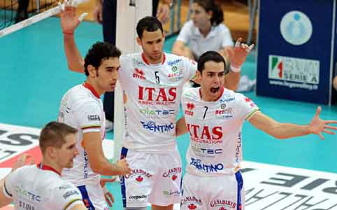 Volley, a Trento il derby dell'A-22